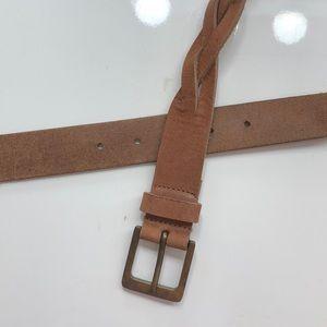 Buckle Brown Braided Belt so S